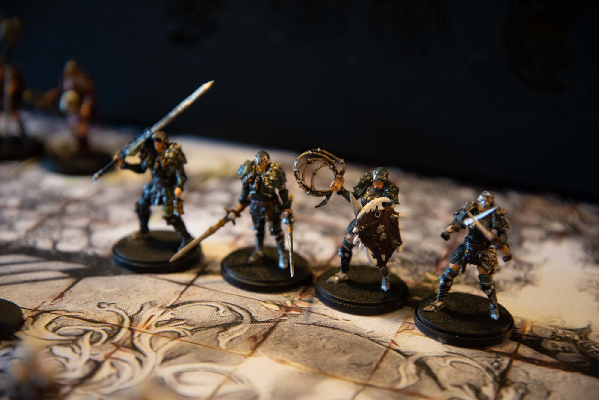 Assembled and Painted Kingdom Death Monster Set